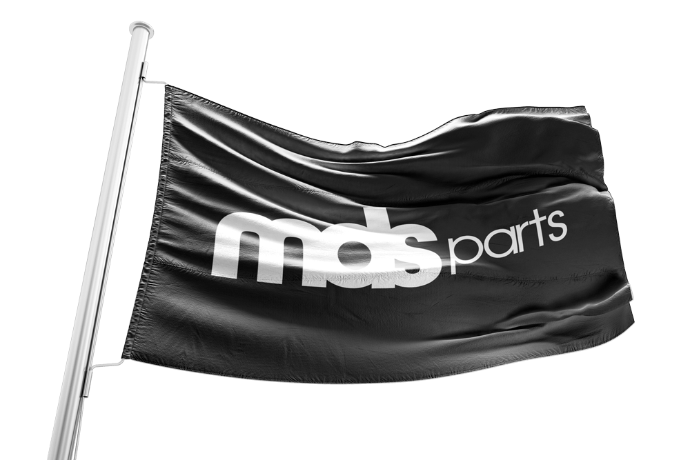 Vlag met logo MDS Parts